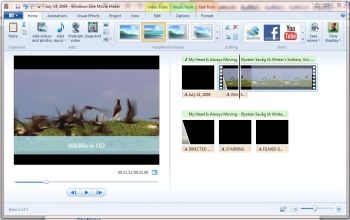 Windows Live MovieMaker turns anyone into a movie director or producer, and helps you polish those home movies.