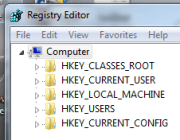 Using the built-in Registry Editor.