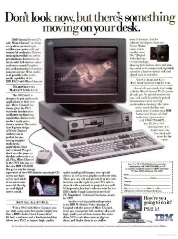 An ad describing the IBM Personal System/2.