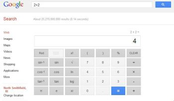 New Google calculator