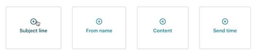 Test A / B dans Mailchimp.