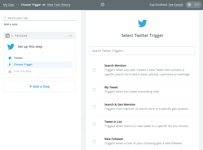 create Twitter RSS feed
