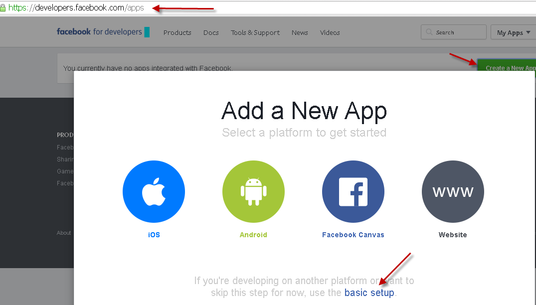 How to register Facebook OAuth App for Graph API Access - Powered by