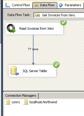Loading Xero data to SQL Server in SSIS