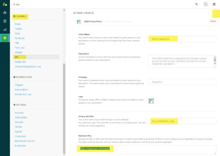 Configure Zendesk OAuth App