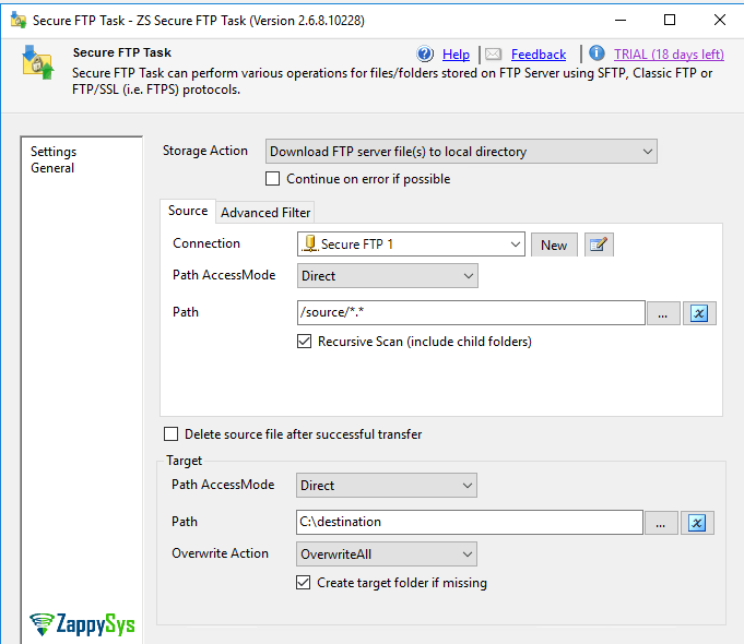 SSIS FPTS connection