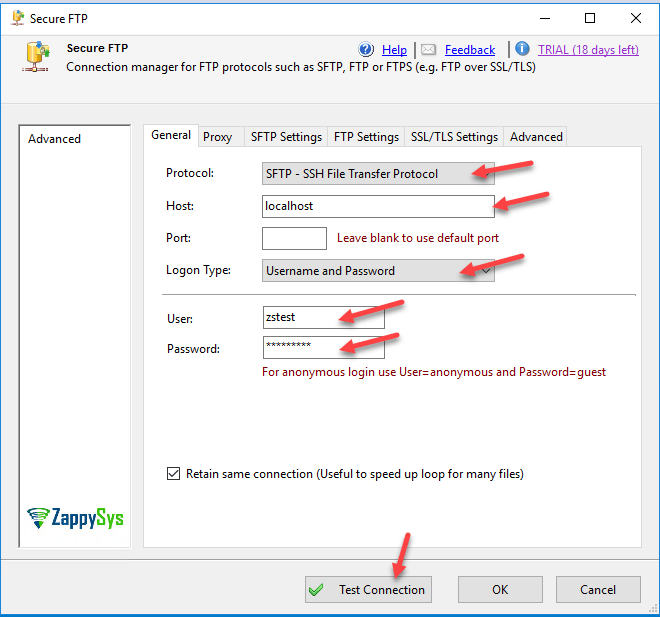 SSIS FTP Task