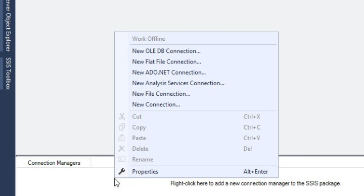 SSIS create a new connection CRM Dynamics
