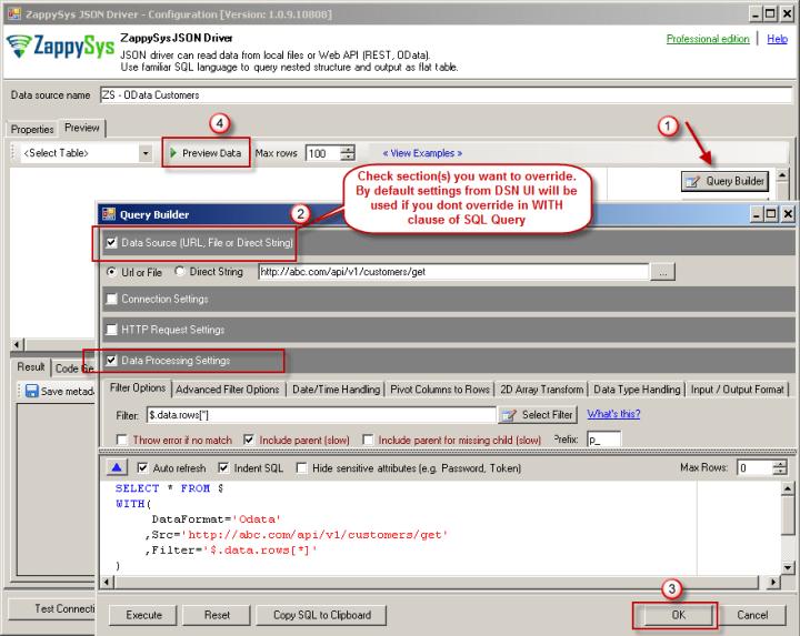 Using API SQL Query Builder