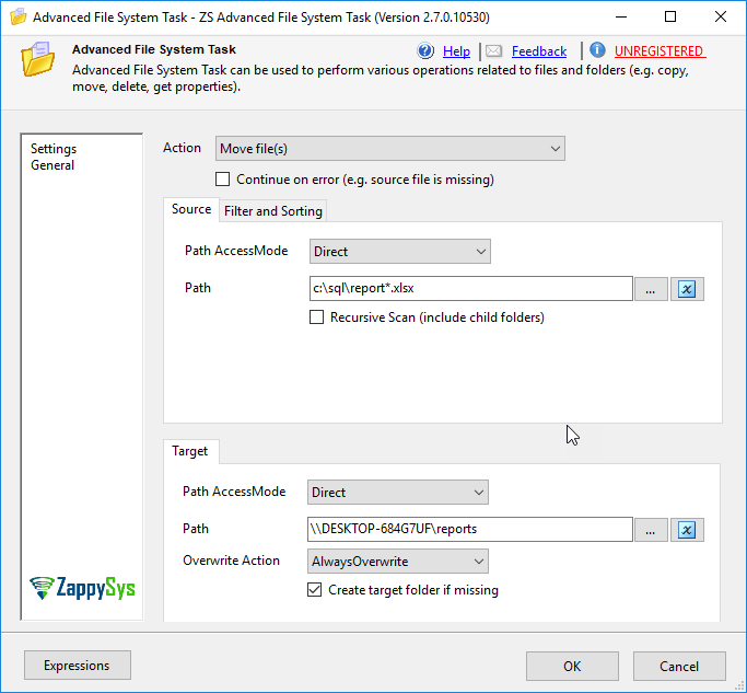 Move SSRS reports exported to UNC path