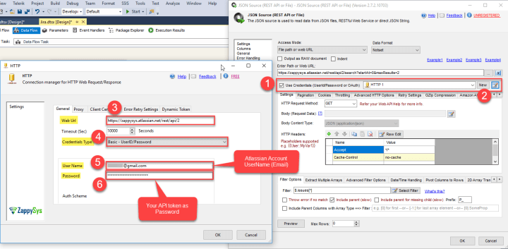 JIRA Connection: HTTP Connection Manager