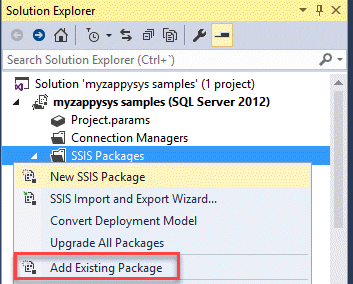 Add package SSIS
