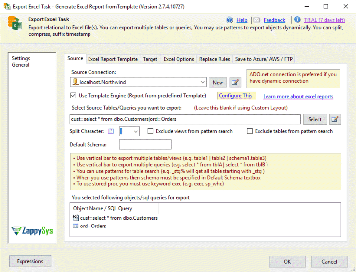 Export SSIS to Excel