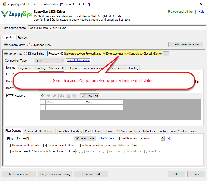 How to Import JIRA data in Power BI   ZappySys Blog