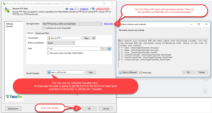 SSIS - Set Latest ADO.net DataTable Variable