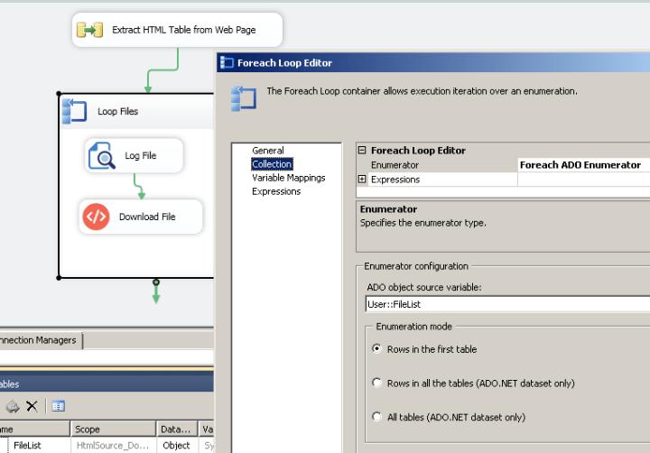 Configure ForEach Loop Task - Download Files
