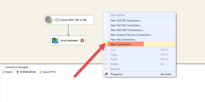 Create Excel File Connection