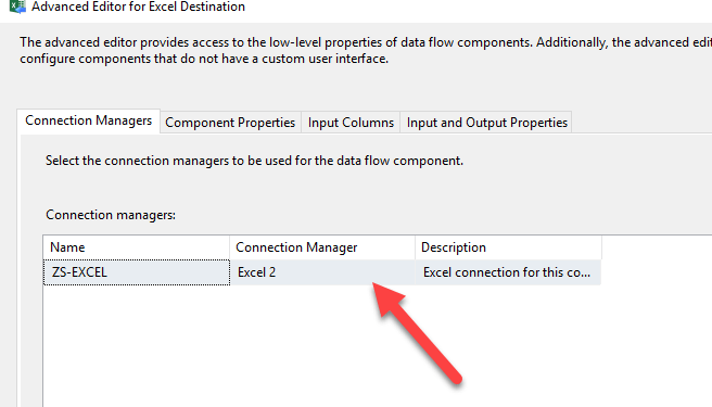 SSIS Excel Connection Advanced Edit
