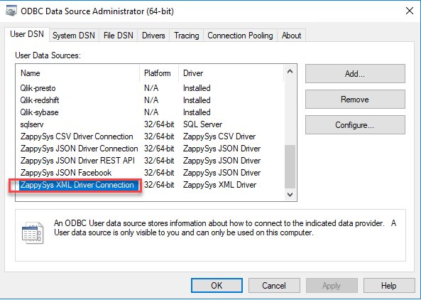 Connect to RSS using ODBC