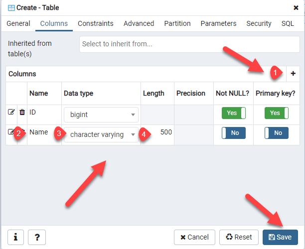 PostgreSQL Add Table Columns