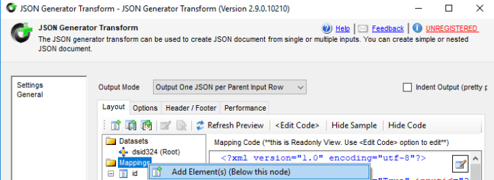 Increment an element in JSON with SSIS