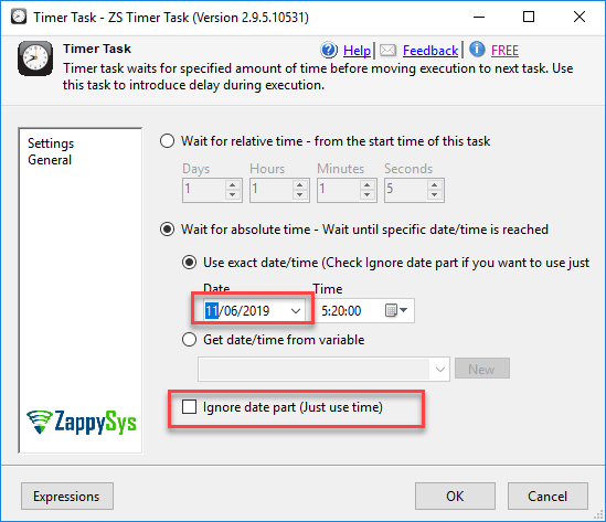Execute the task in SSIS at a customized time