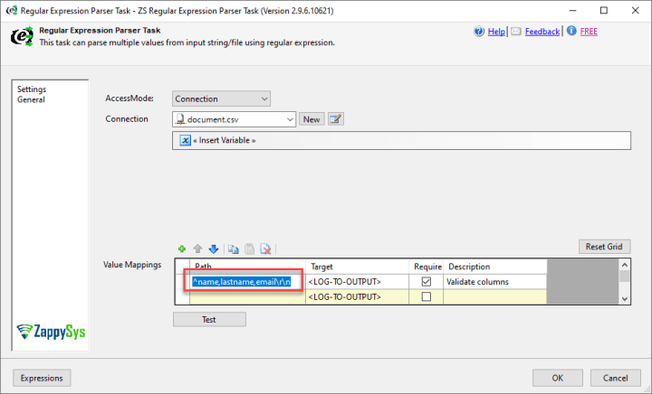 Verify the missing columns in SSIS