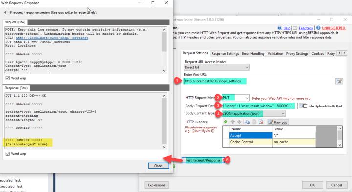 Rest API Task PUT Call