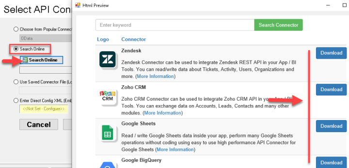 ODBC API Driver - Search API Connector Online