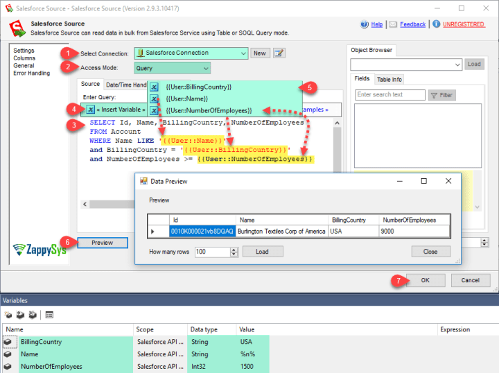 SSIS Salesforce Source Connector (CRM Source) - Visual
