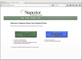 Superior Senior Care needed a solution to allow their clients and caregivers an easy solution to go digital with on-line payments. Their only issue was that they used QuickBooks. They needed a system that was as automated as possible, while making it easy for their clients to pay their outstanding invoices and their Caregivers to have access to their timesheets and payouts. We made a fully integrated system for them harnessing QuickBooks Web Connector and Authorize.net.