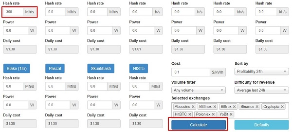 Mining Calculator Whattomine Whattomine Calculator How To Use The Service Detailed Instructions How To Use This Mine Correctly Most profitable coins for geforce gtx 1080 ti. mining calculator whattomine