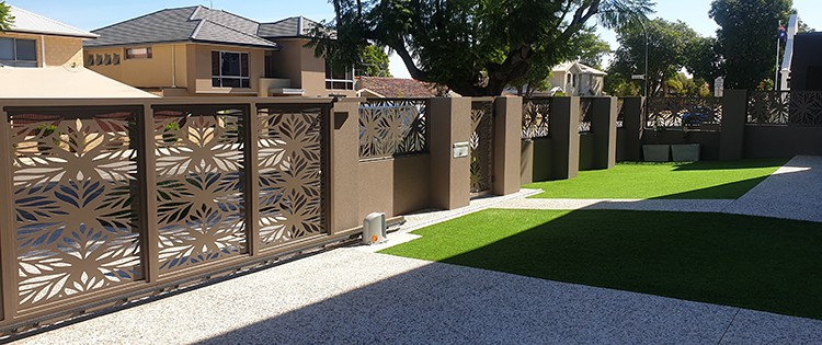 Decorative side gate matching infill panels (8)