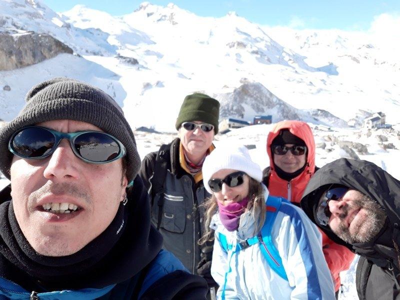 Mario, Miguel, Mamen, Cristina y Sergio