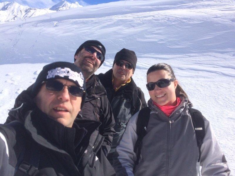 Santi, Sergio, Miguel y Laura