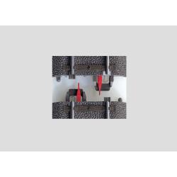 Aisladores de carril central, 8 piezas, Marklin tipo C, Escala H0. Marca Marklin, Ref: 74030.