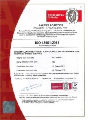 logistics company certification