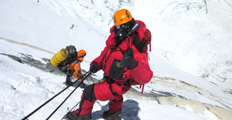 Arunima Sinha at the Top of Mount Everest