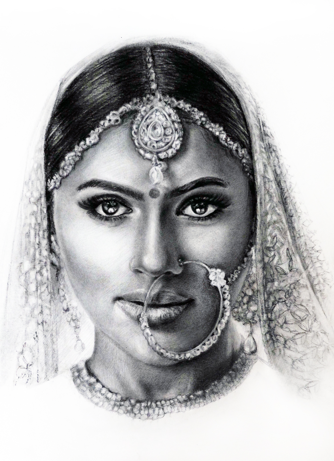 Taiwanese artist drawn to sketch south asian brides