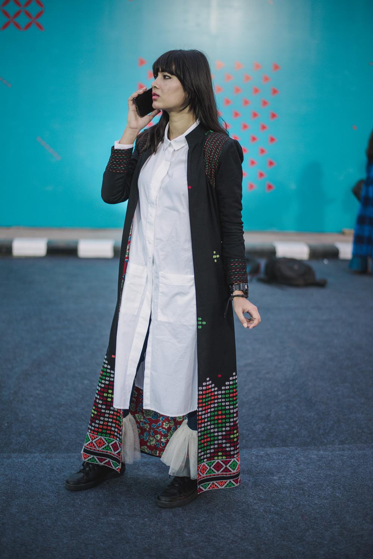 Shivaji Boruah Street Style Amazon India Fashion Week Spring Summer 2018; Photo by The Co Lab