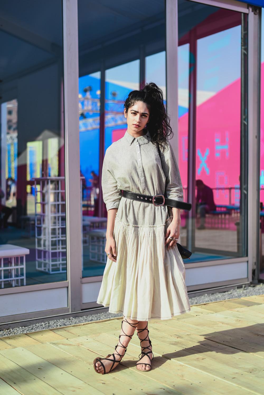 Kavya Trehan   Street Style Amazon India Fashion Week Spring Summer 2018; Photo by The Co Lab