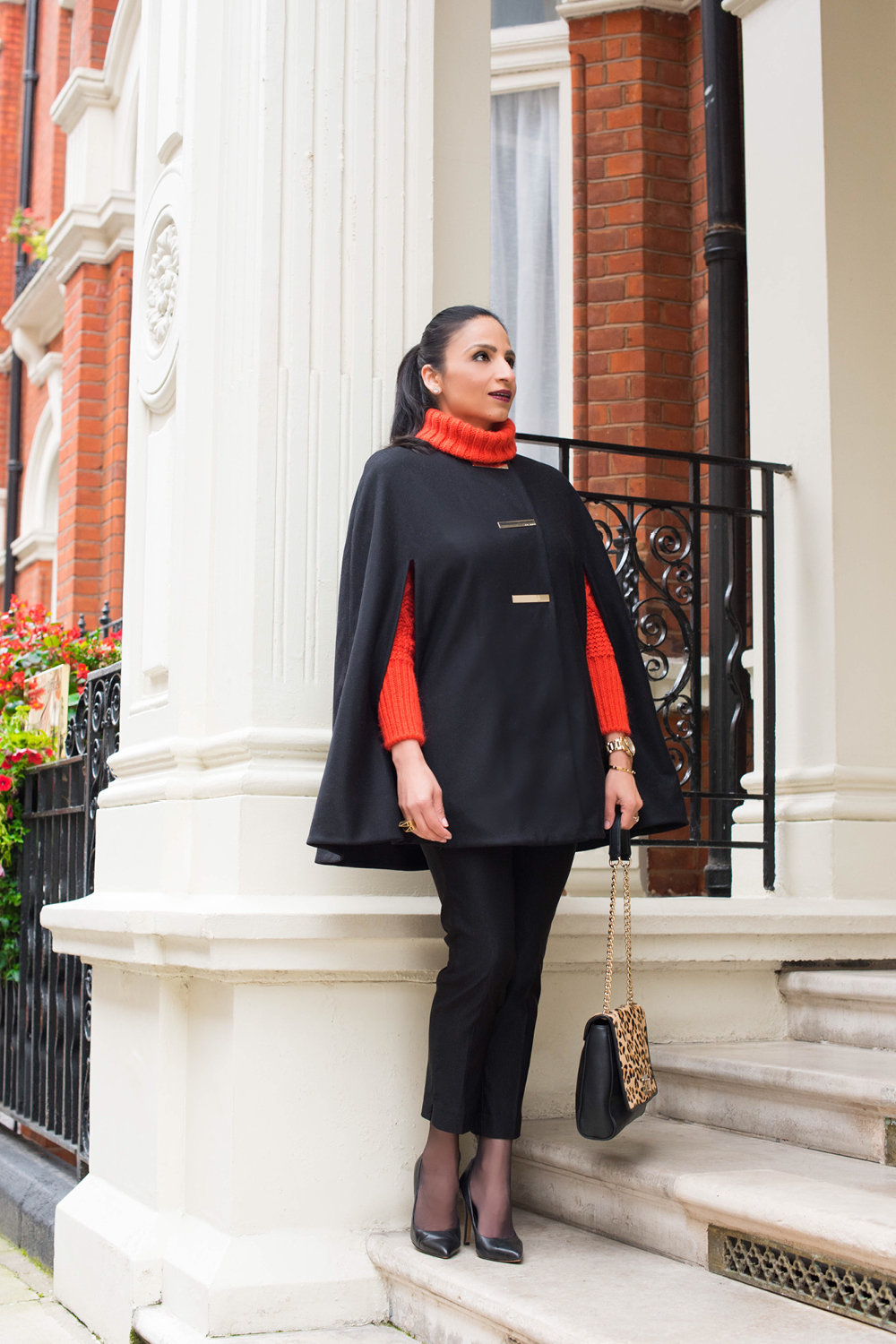 London Winter Style Tips: Woolen Cape; Isha's Verdict