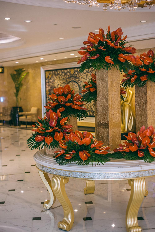 Shangri-la New Delhi Lobby Centerpiece