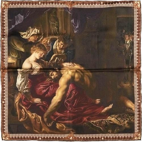 Poszetka Jedwabna Rampley Samson i Dalila