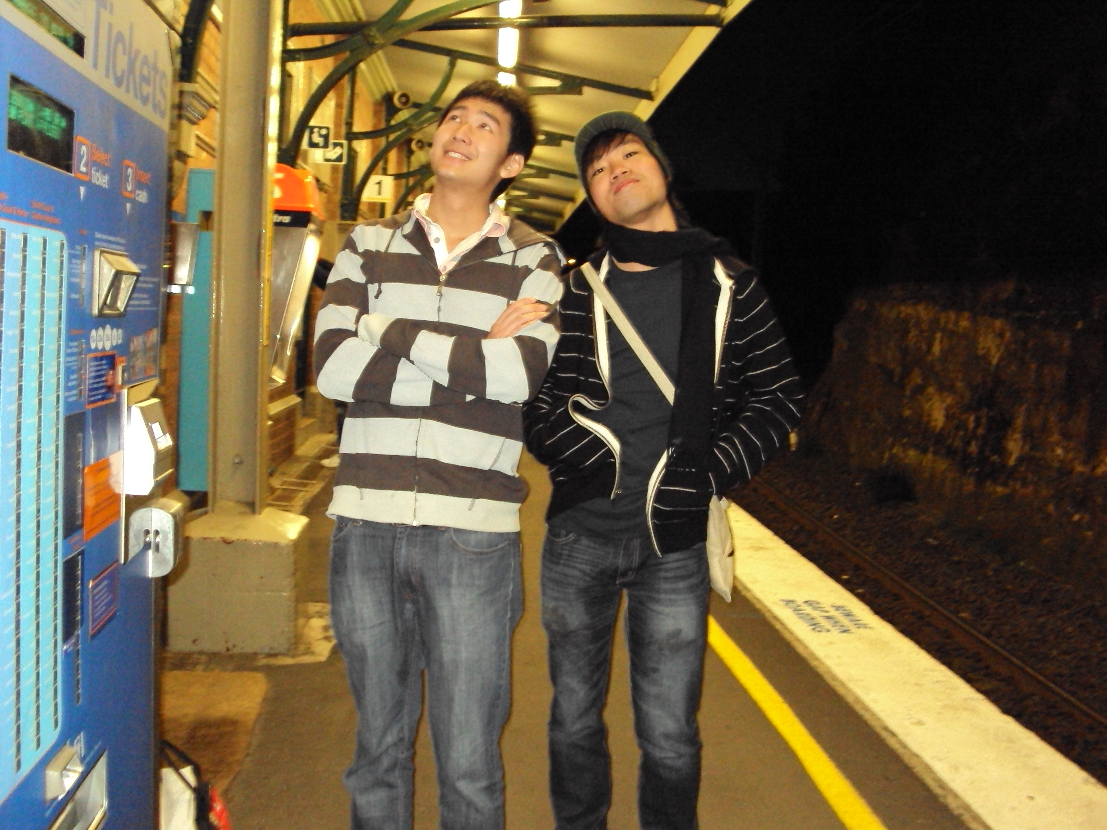 H and I on the platform