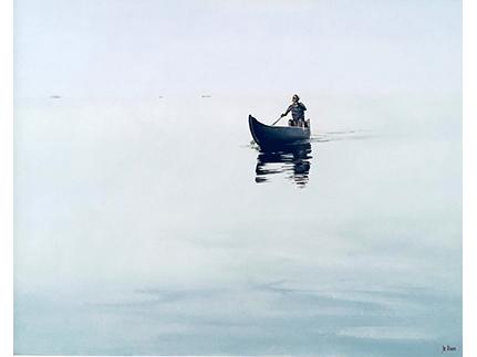 The Fisherman Returning, Lake Vembanad, Kumarakom