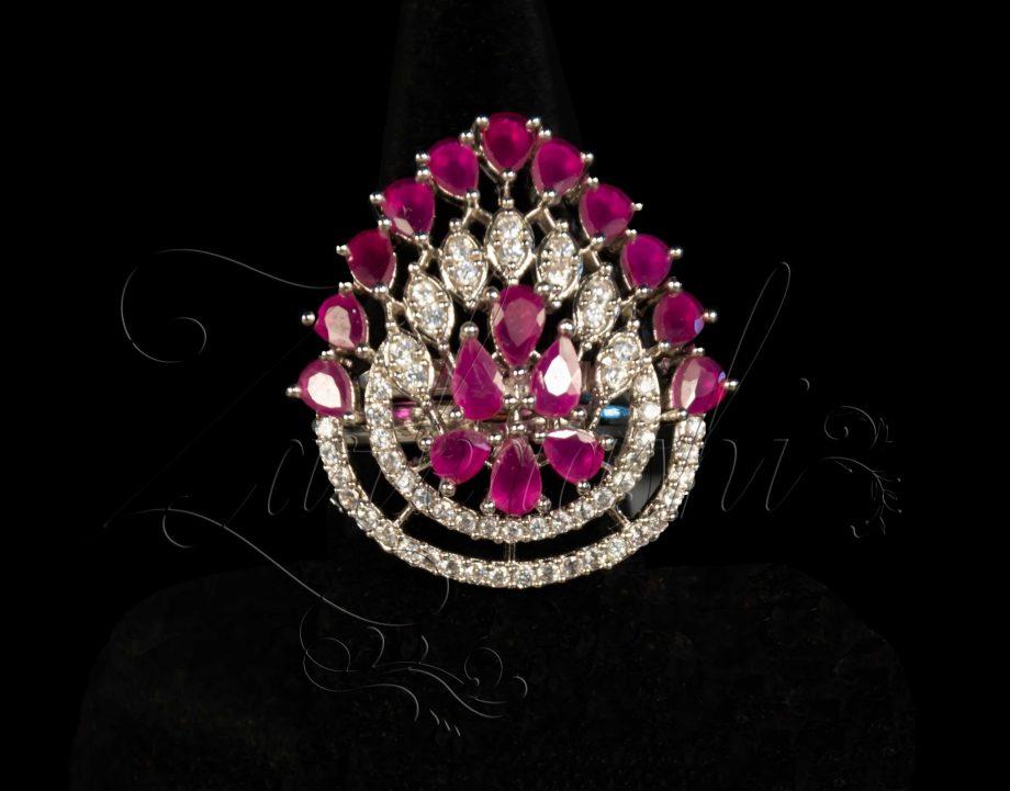 Ruby CZ Ring