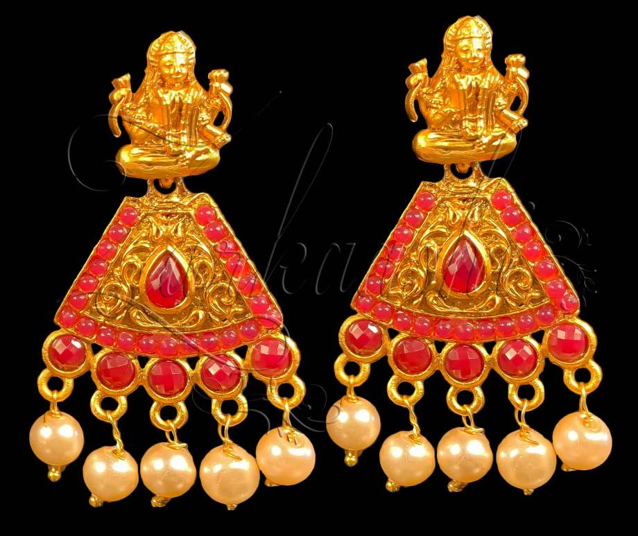 BEST LAXMI NECKLACE SET WITH RUBY STONES