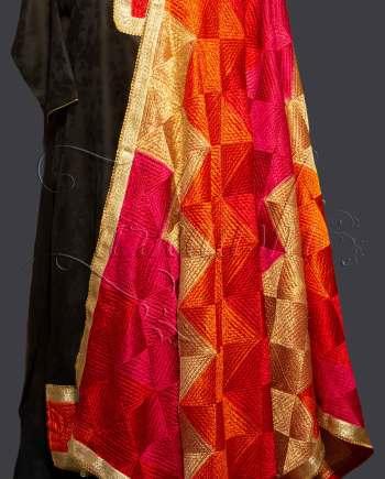 Best Cotton Suit with Heavy Phulkari Dupatta