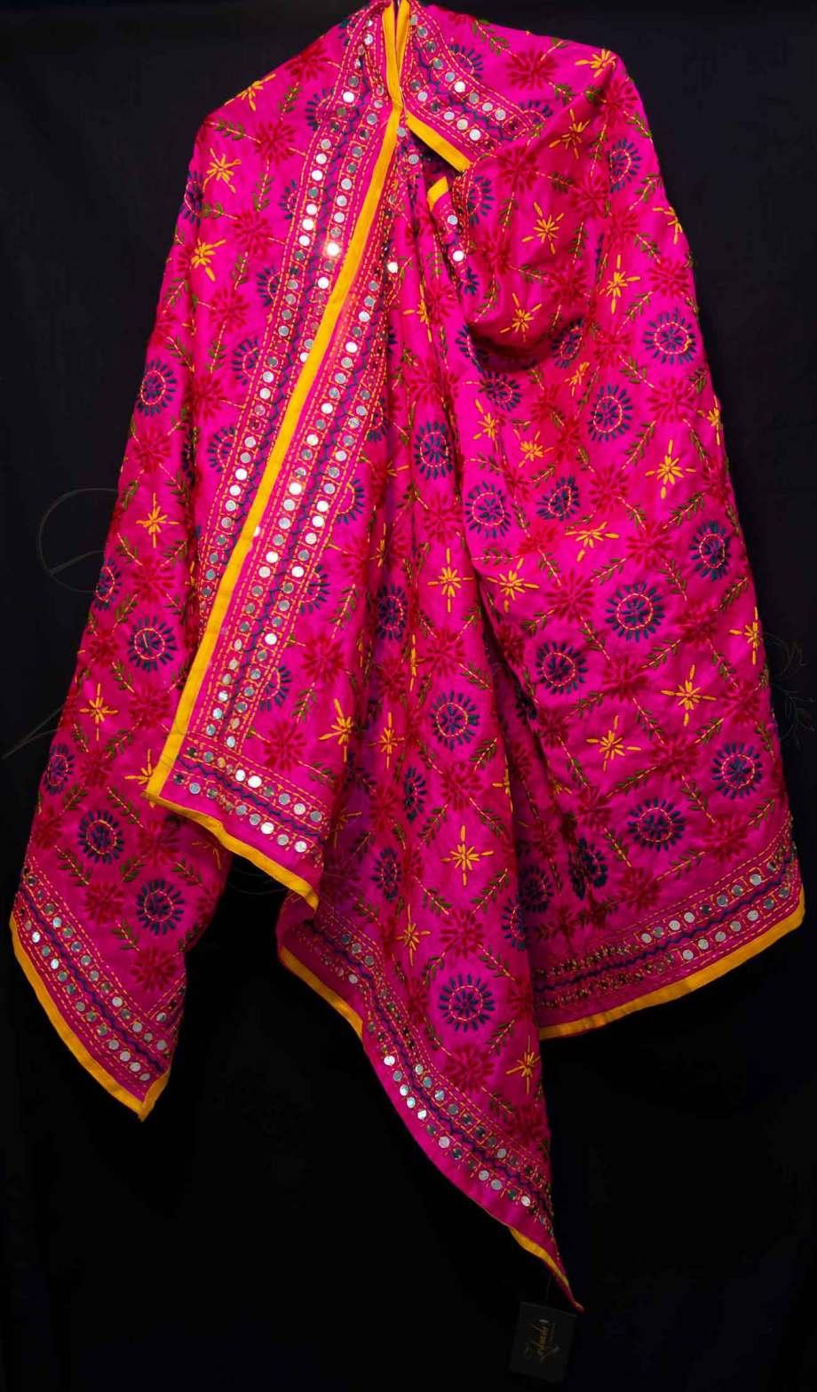 Best Chanderi Silk Phulkari Dupatta
